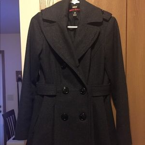 Dark gray winter pea coat